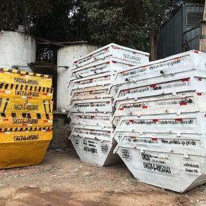 Caçamba para material de construção